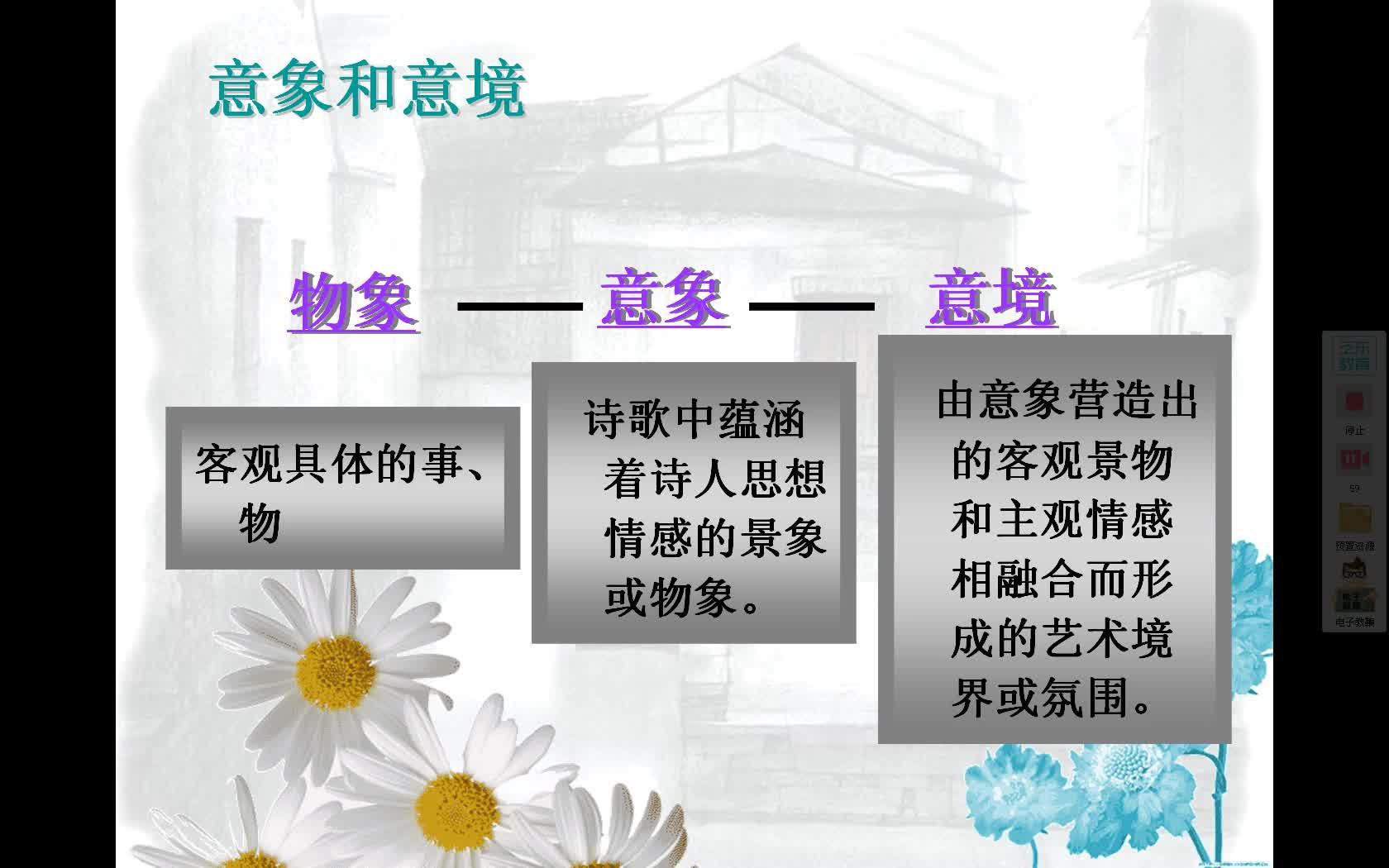 人教版 高中语文 必修一 第一单元 诗两首《雨巷》的意象解读(北票高中-郭敬亭)-视频微课堂