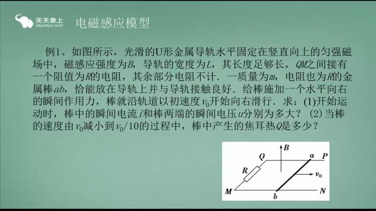 人教版 高二物理 选修3-2 电磁感应中的能量转化与守恒-视频微课堂