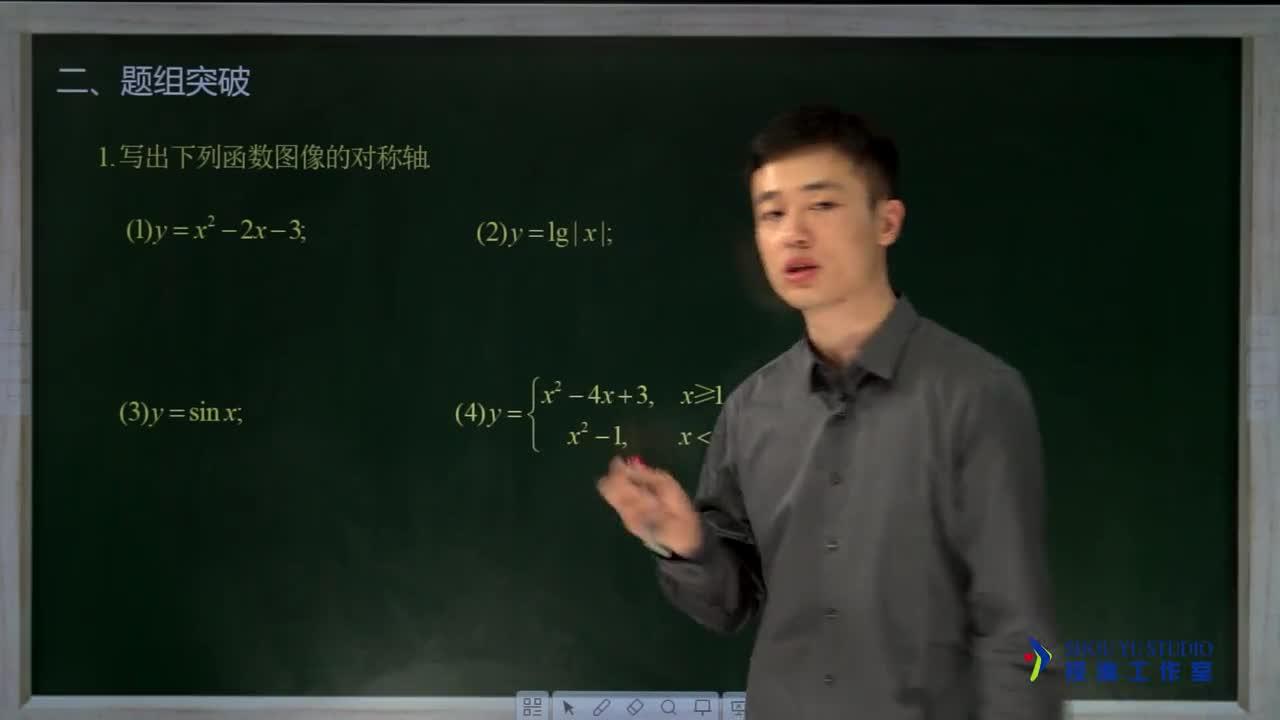 1.6.3 函数图像关于直线对称(名师视频)-高中数学【题组全解】