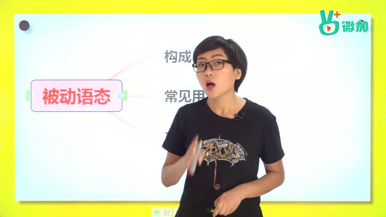 视频27 被动语态(一)-【微加】中考英语语法知识精讲