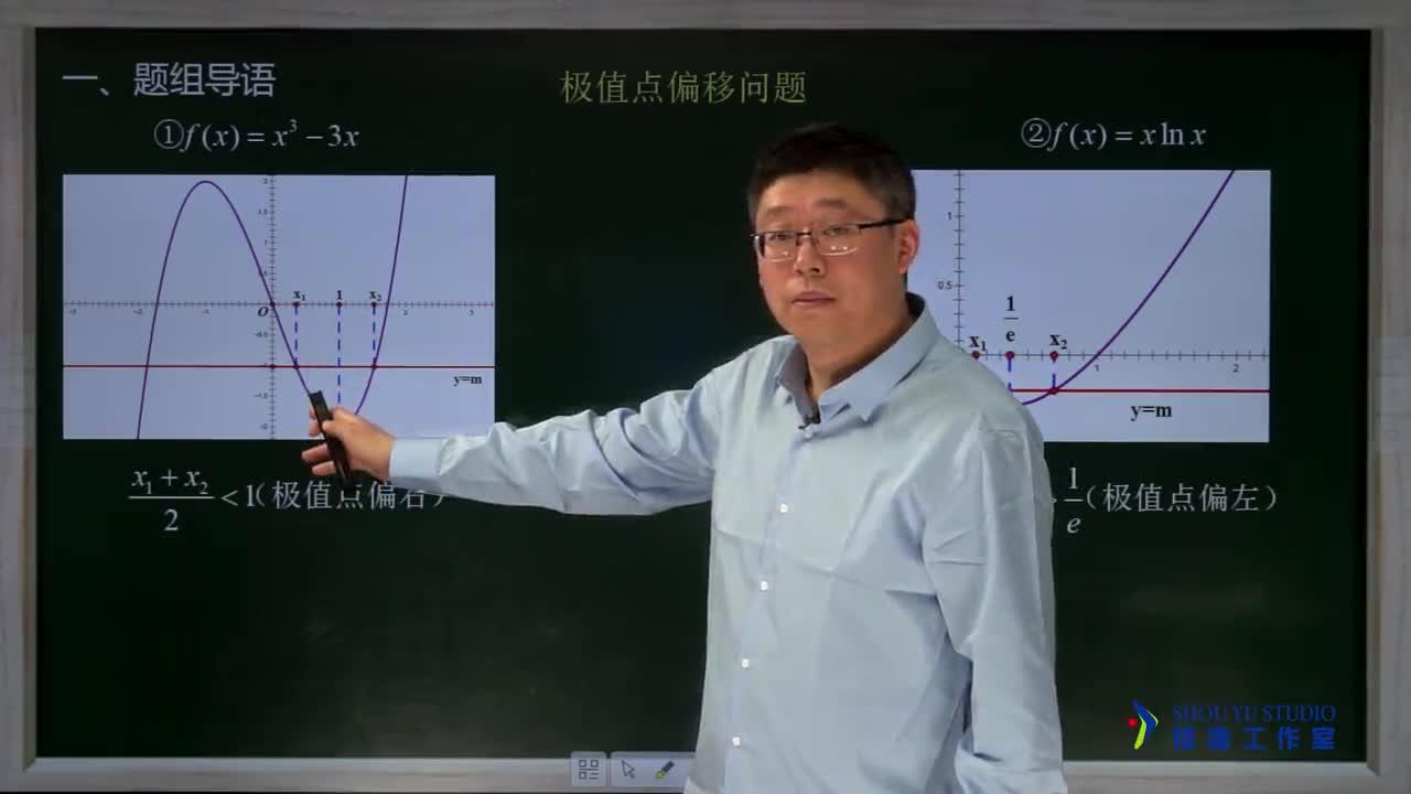 3.5.2 极值点偏移问题(2)(名师视频)-高中数学【题组全解】