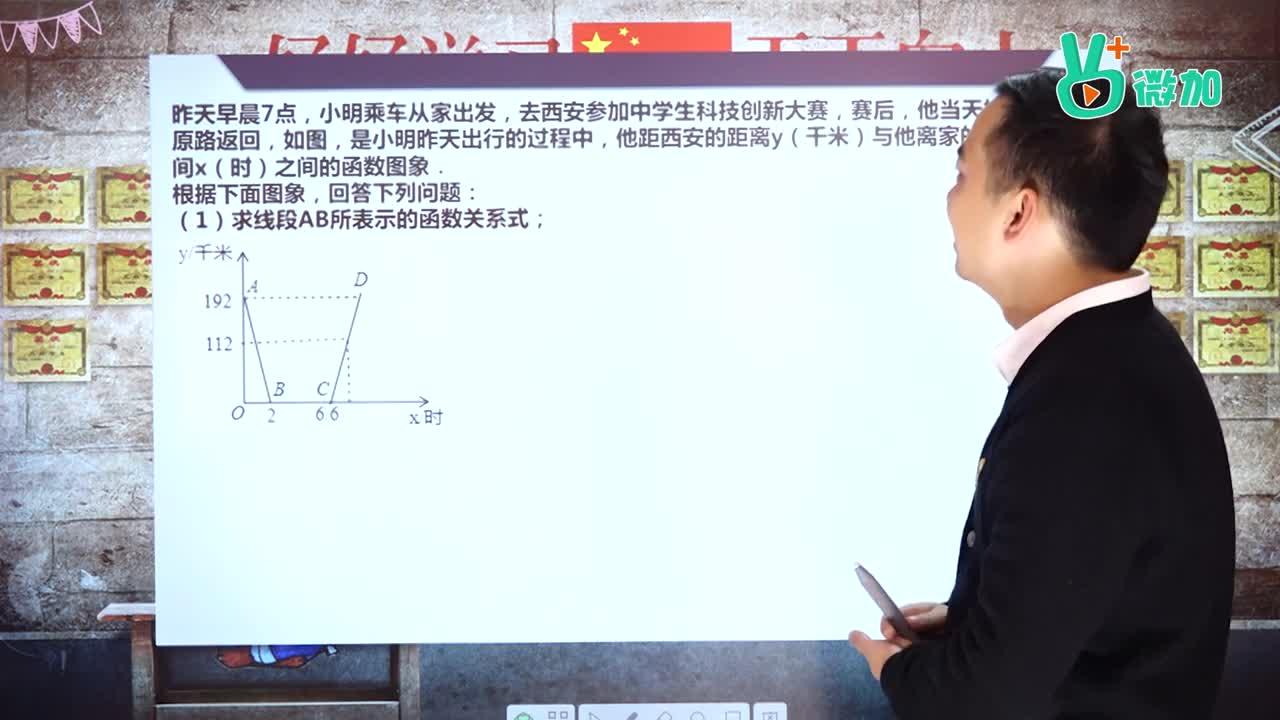 视频03 一次函数应用 2016陕西-【微加】大圣学数学系列中考数学专题详解微课