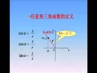 蘇教版 高中數學 必修四 1.2同角三角函數關系-視頻微課堂