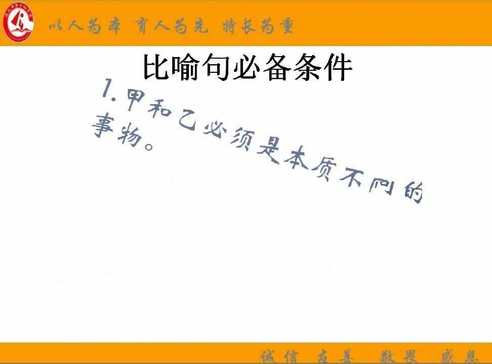 人教版 高中语文 必修一 修辞方法系列微课《比喻》-视频微课堂