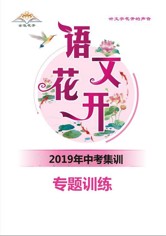 2019年中考語文集訓專題訓練