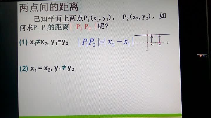 人教版 高中数学 两点间的距离-视频微课堂