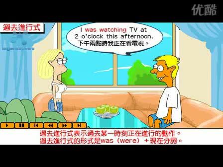 人教新課標 高中英語 語法:英語語法視頻教程  過去進行時(flash)-視頻素材