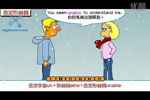人教新课标 高中英语 语法:英语语法视频教程  否定形容词(flash)-视频素材