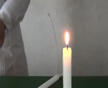 人教版化学九年级化学第一单元蜡烛燃烧-视频实验演示