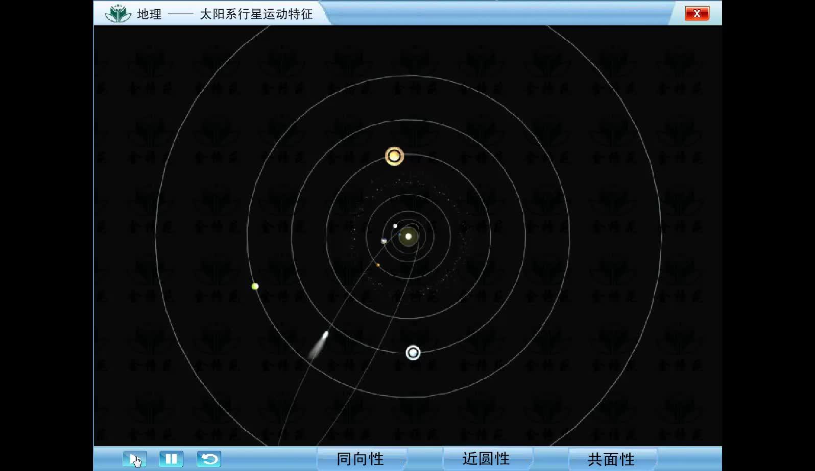 太阳系行星运动特征-视频素材