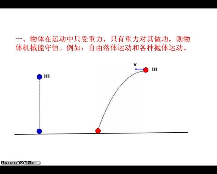 人教版高中物理 机械能守恒判定-视频微课堂