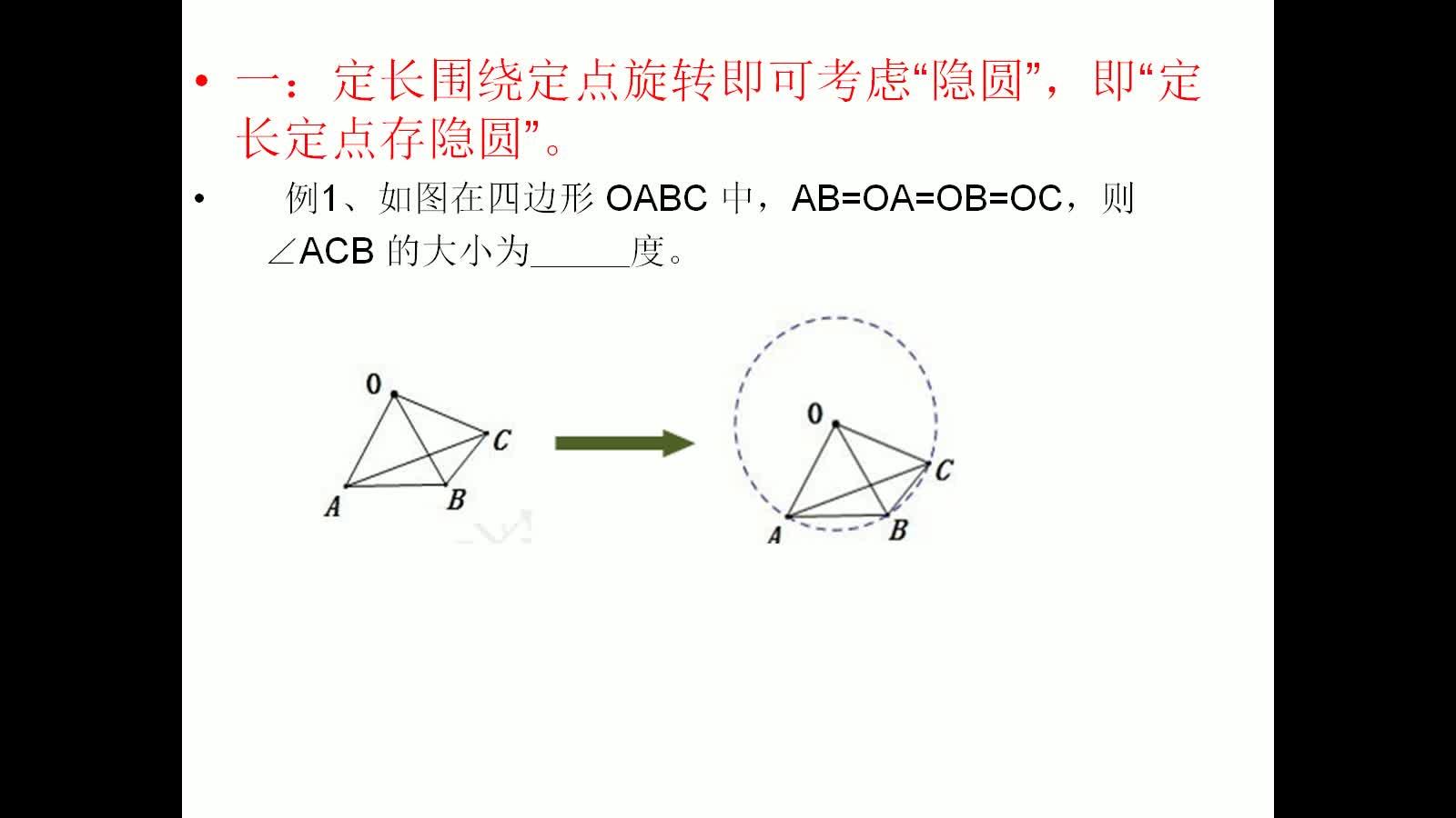 人教版 九年级数学下册《动点轨迹之隐圆问题》-视频微课堂