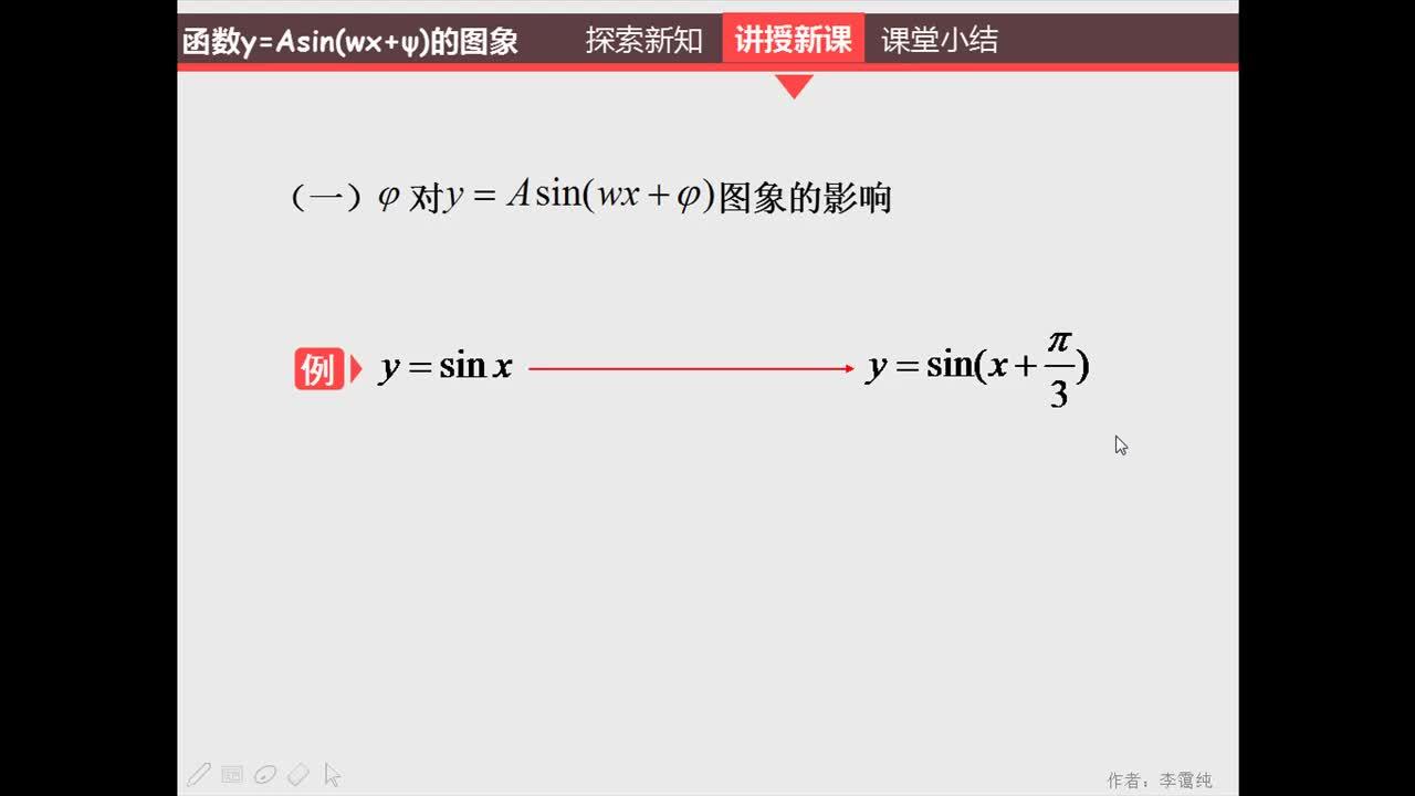 人教版 高一数学 必修四 第一章 第五节 函数的图象-视频微课堂