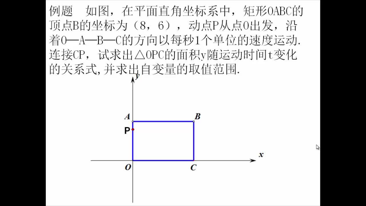 八年級數學:多種視角下的矩形-多種視角下的矩形-函數背景下的矩形動點問題-視頻微課堂