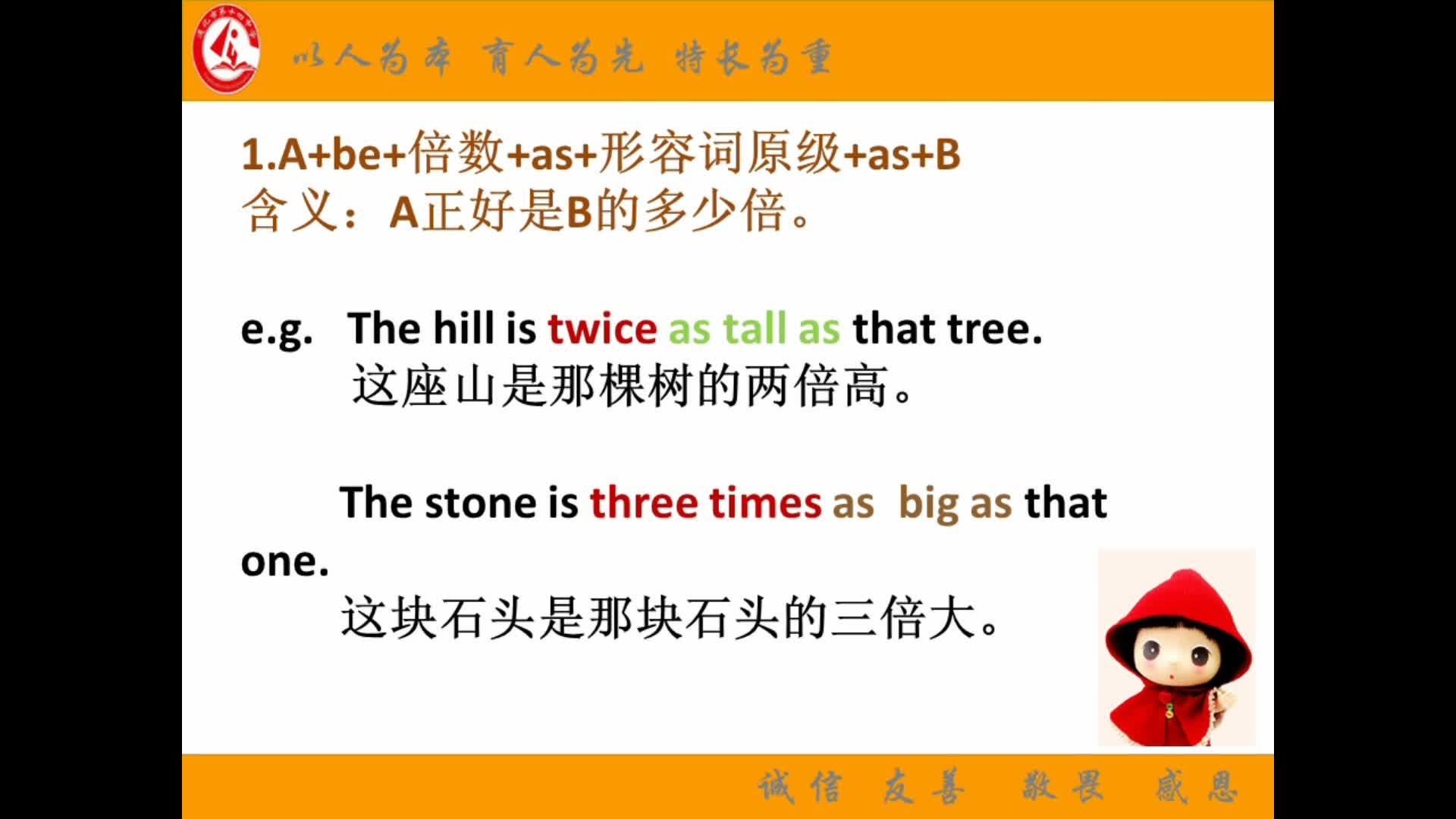 高考英语复习:倍数表达法-视频微课堂