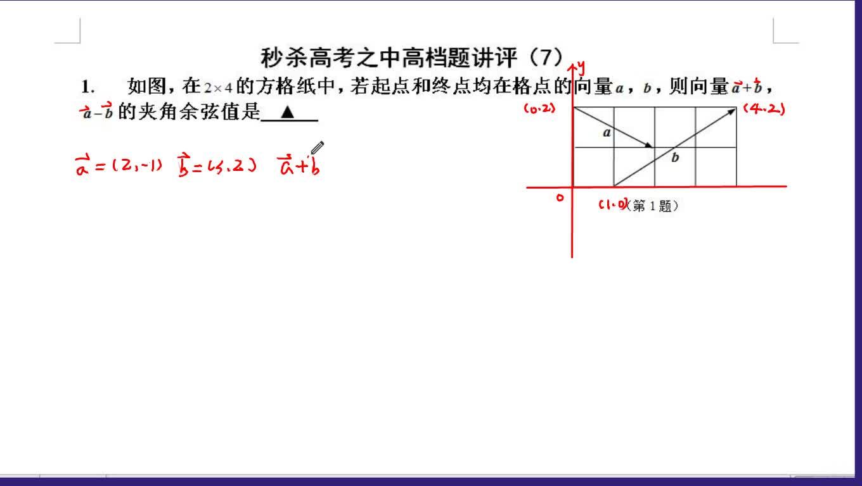 高考数学:秒杀高考之中高档题讲评(7)-视频微课堂