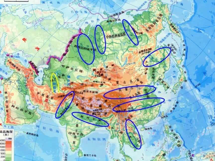 湘教版 高一地理必修三 第一章 區域地理環境與人類活動-亞洲的水系特點-視頻微課堂