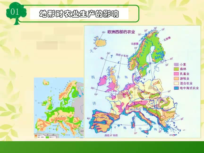湘教版 高一地理必修三 第一章 區域地理環境與人類活動-歐洲西部地形氣候對農業生產的影響-視頻微課堂