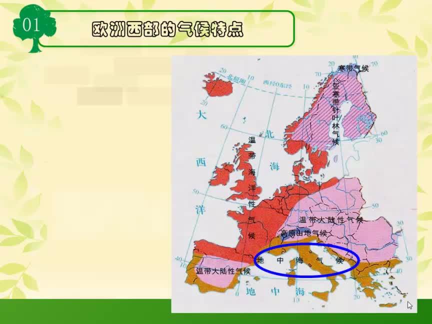 湘教版 高一地理必修三 第一章 區域地理環境與人類活動-歐洲西部的氣候特點-視頻微課堂