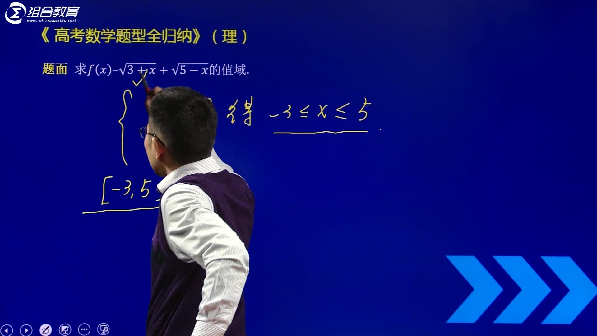 视频2.8 函数的值域配方法-【洞穿高考】2020版高考理科数学题型全归纳