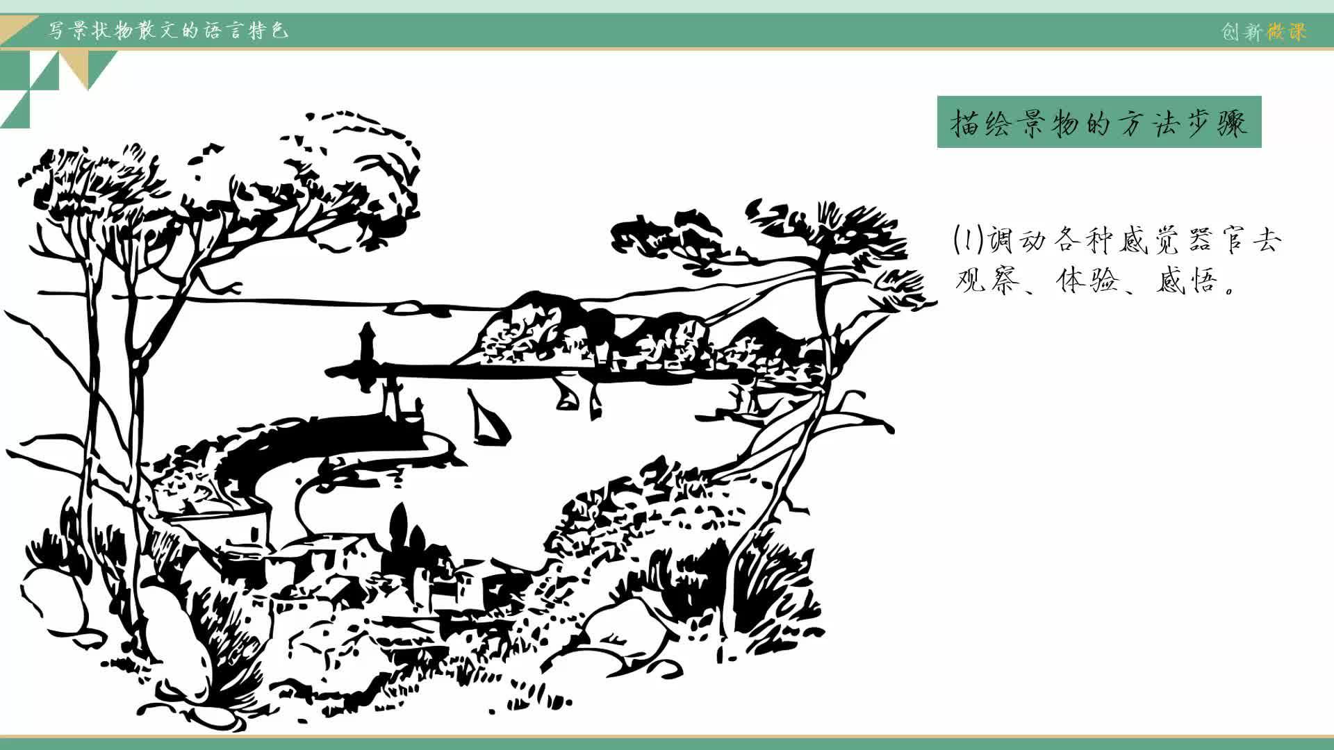 鲁教版 九年级语文:写景状物散文的特色-视频微课堂