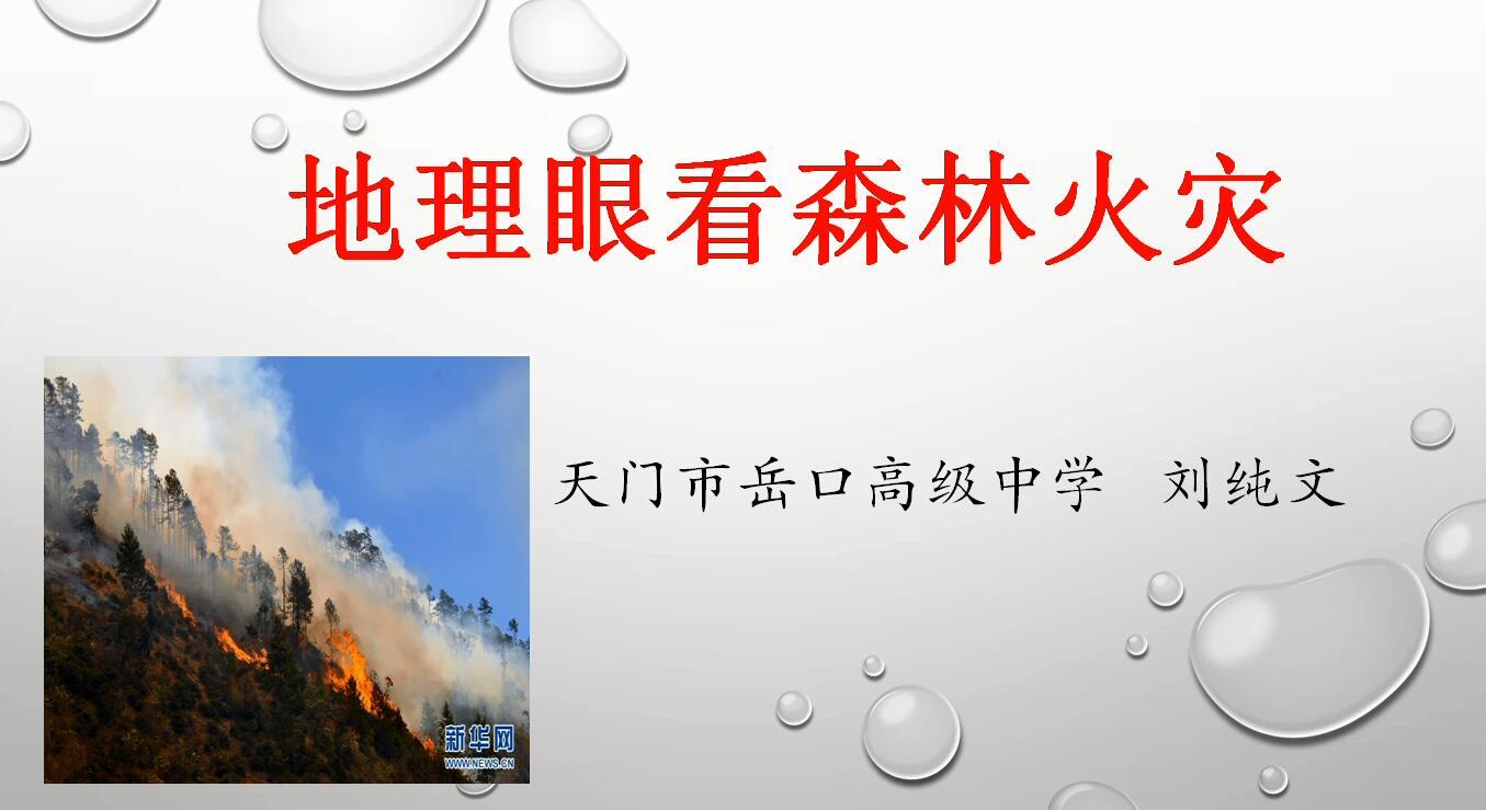 高三地理:地理眼看森林火灾   微课课件 微课视频 (共2份打包)