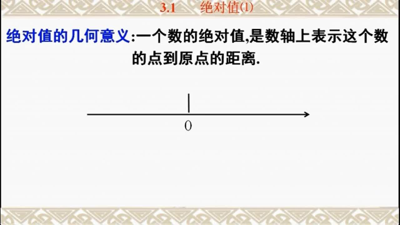 3.1 绝对值(1)(微课)-初升高数学衔接课程(苏教版)【2019原创资源大赛】