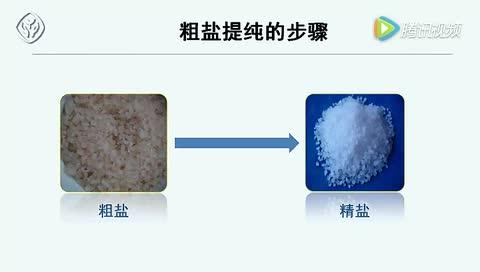 九年級化學下冊  第十一單元 粗鹽中難溶性雜質的去除-視頻微課堂