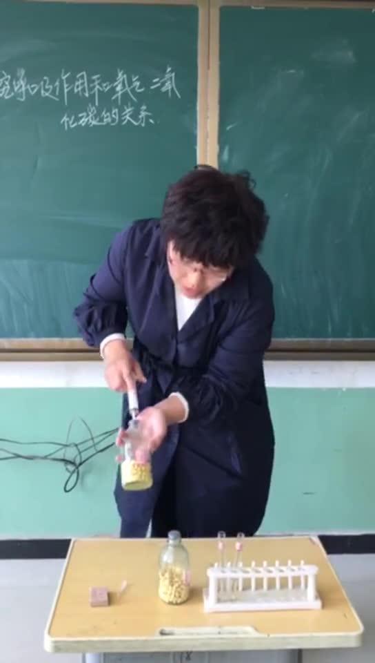 冀少版 八年级生物:探索呼吸作用和氧气二氧化碳的关系-实验演示视频