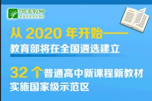 将遴选高中新课程新教材实施示范区和示范校