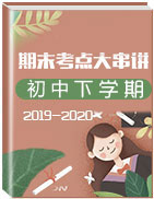 2019-2020學年初中下學期期末考點大串講