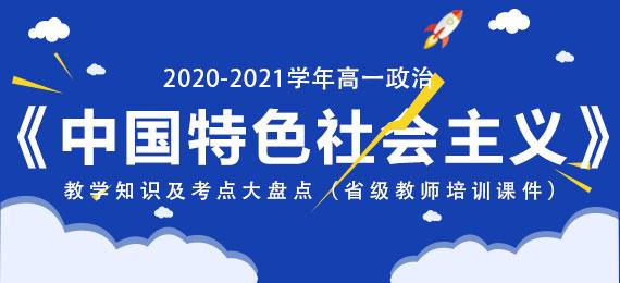2020-2021学年高一政治《中国特色社会主义》教学知识及考点大盘点