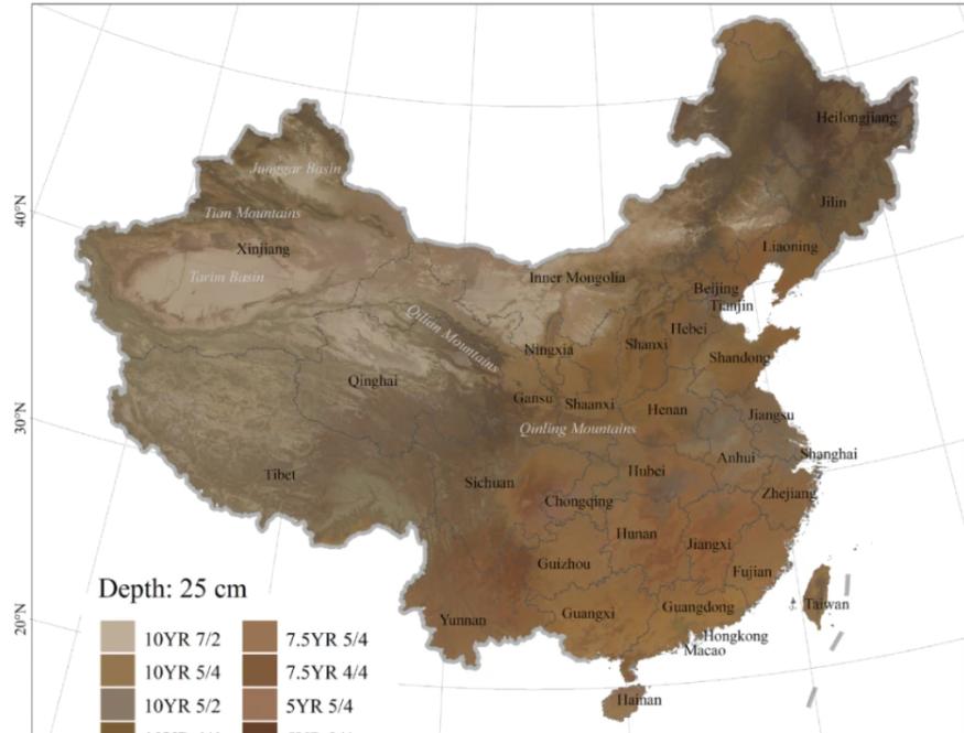 """首幅土壤颜色地图描绘""""中国肤色"""" 来看看你的家乡是什么色号!"""