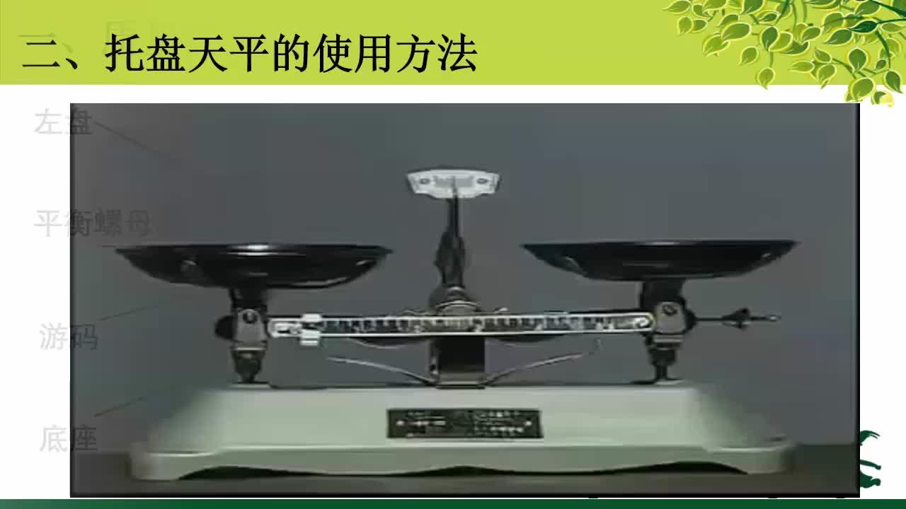 初一科学1.7托盘天平的使用