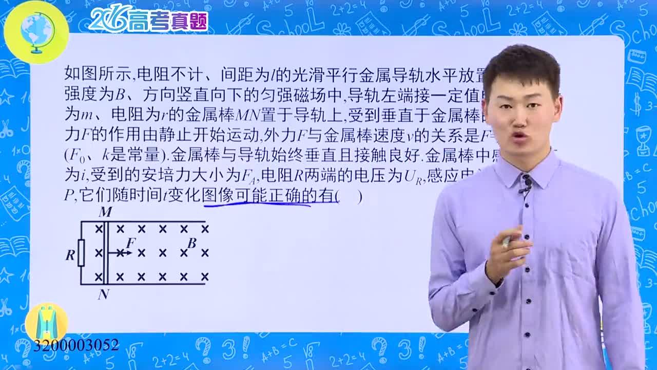 高考物理 电磁感应:2016年全国(四川)-试题视频
