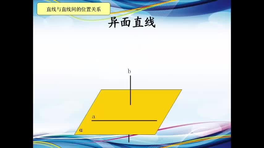 人教版 高一数学必修2 2.1 空间中的直线、平面间的位置关系-视频微课堂