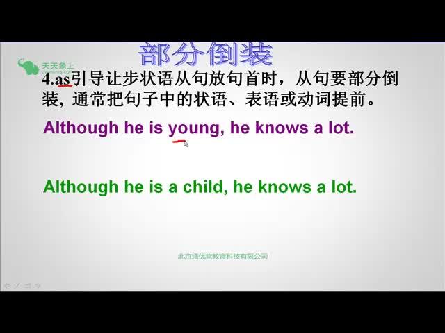 外研版 高二英语 语法系列之倒装句(2)-视频微课堂
