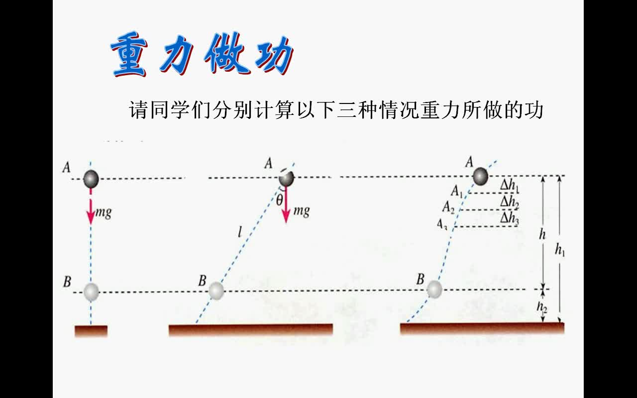 人教版 高中物理必修2 第七章 第四节 7.4《重力势能》-视频微课堂
