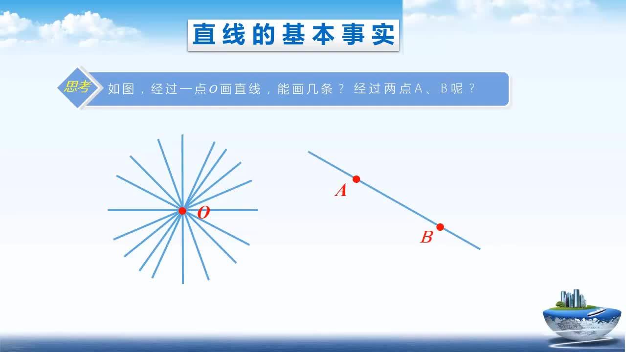 人教版七年级上册微课  4.2 直线 射线 线段