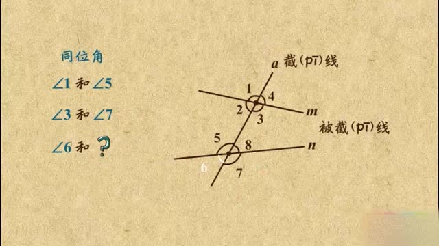 人教版七年級數學下冊 5.1.3同位角、內錯角、同旁內角    微課視頻