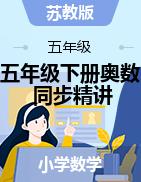 五年级下册奥数同步精讲精练(苏教版)