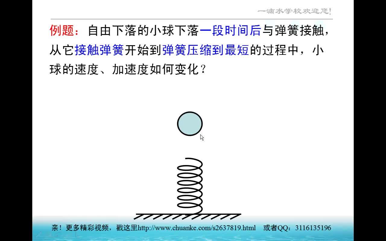 第4章 第3.5节 专题:牛顿第二定律在弹簧问题中的应用(视频)-高中物理 必修1【一滴水】