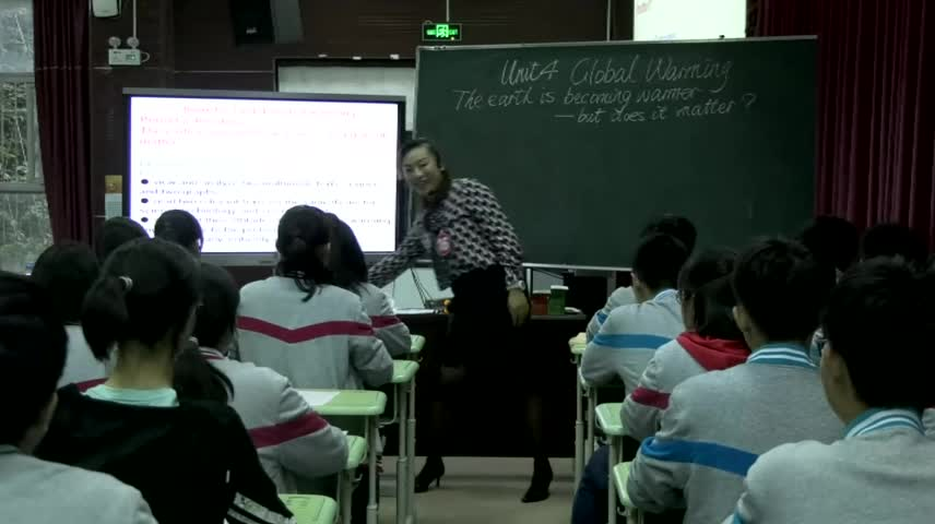云南昆明十中:段玉莹(高二阅读课)人教版 高二英语 选修六 Unit 4  Gnit 4 Global warming 第二课时-视频说课