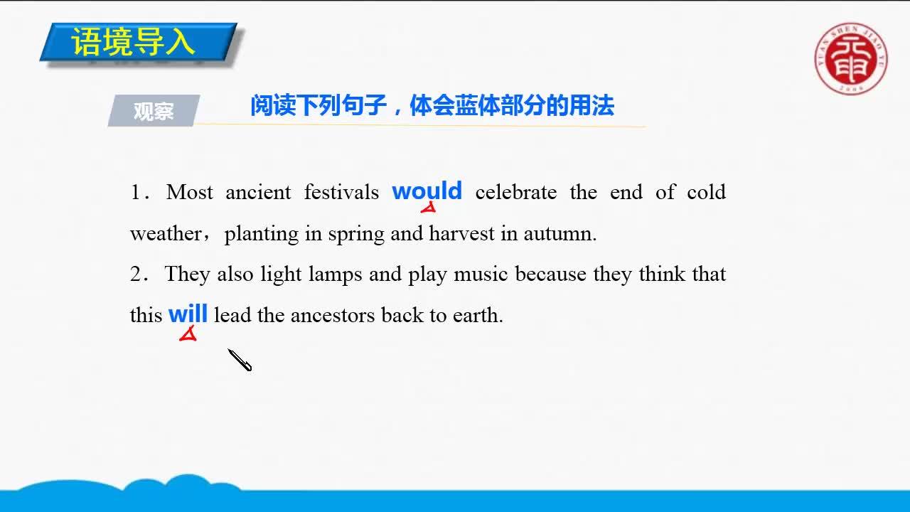 Unit 1 Festivals around the world(1)-高中英語必修三【語法精講微課】