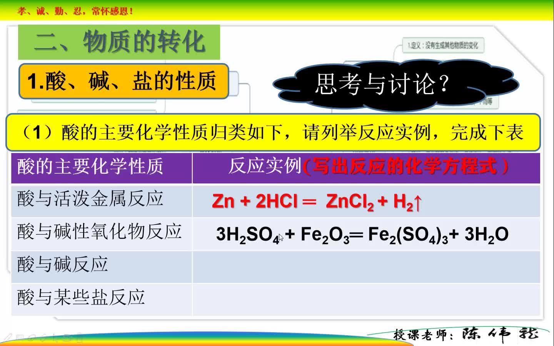 人教版(2019) 高中化学 必修一第一章 第一节 物质的分类和转化(第二课时)微课