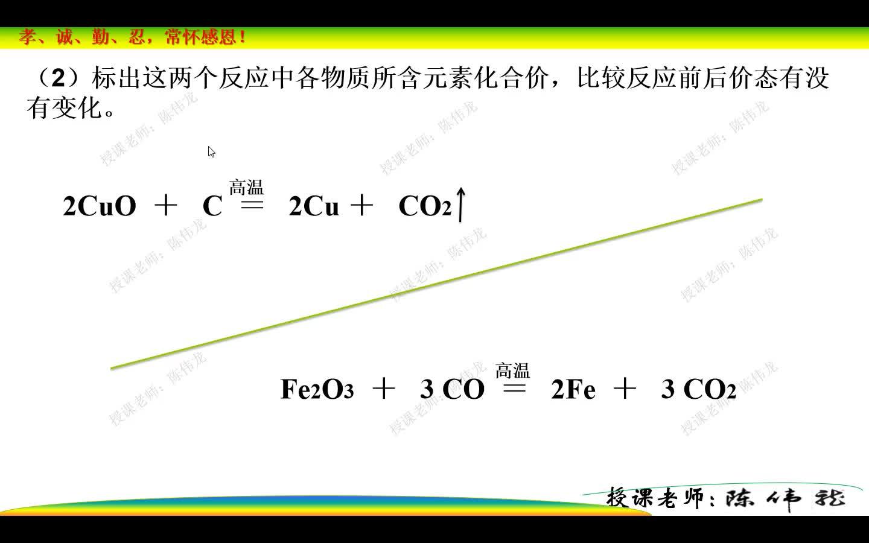 人教版(2019) 高中化学必修一 第一章 第三节 氧化还原反应(课时1)微课视频