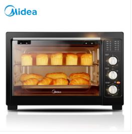 美的(Midea)MG38CB-AA 家用多功能電烤箱 38升大容量烤箱 廣域控溫