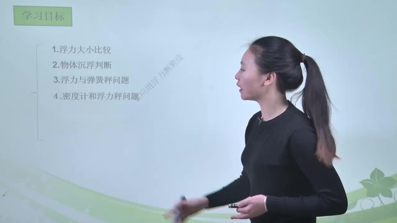 视频3 浮力-【慕联】中考科学复习之浮力