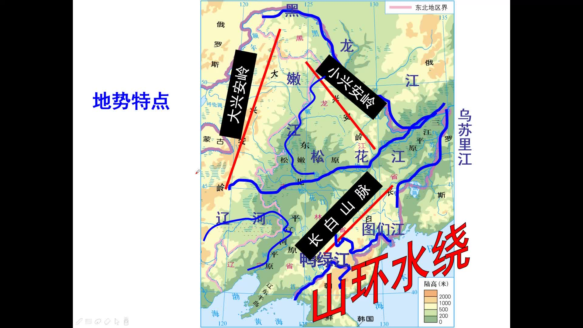 中考復習26省際區域一(東北平原和黃土高原)微視頻