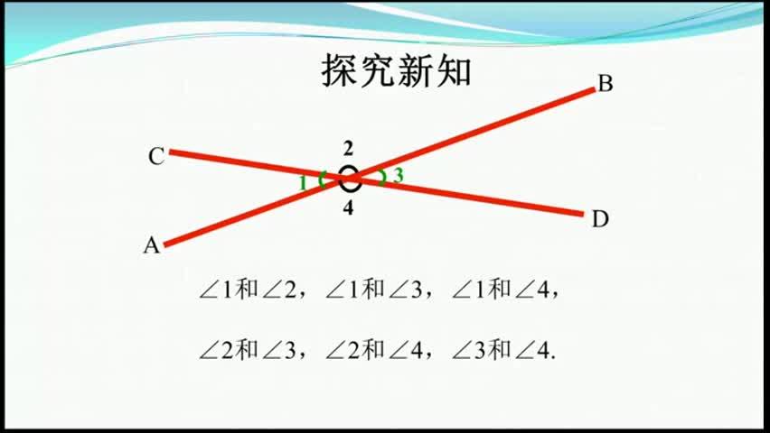 人教版七年級下數學《對頂角》5.1.1微課視頻